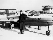 Settanta 70 1962 Il presidente dell'Eni, Enrico Mattei, e il suo aereo