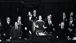 Settanta 70 1987 Nilde Jotti prima presidente della camera MORTO SCALFARO,DA COSTITUENTE A CAPO STATO